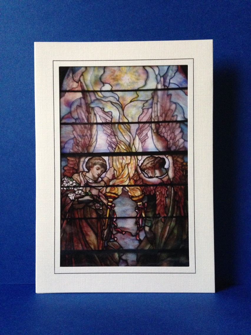 Stained Glass Greeting Card #3 - First Presbyterian Church in Lockport, NY