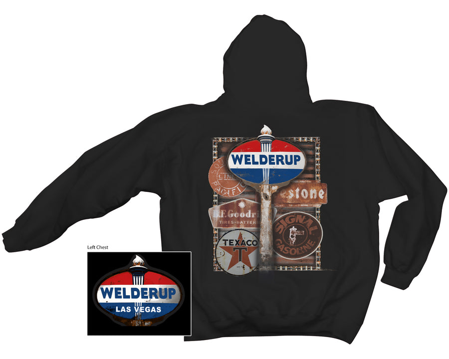 Welder Up Fuel Sign Sweatshirt