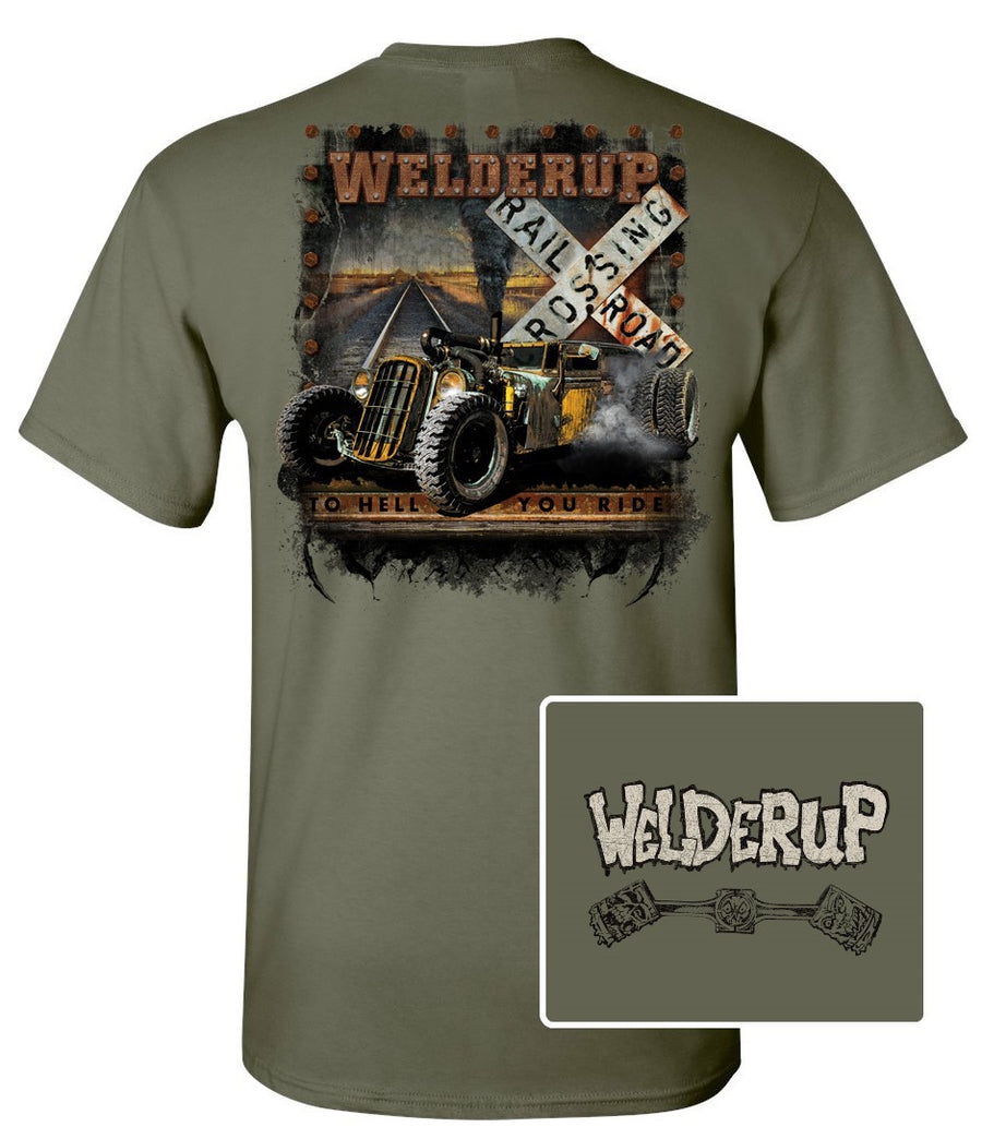 Welder Up Train Car Rail Road T-Shirt