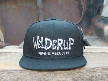 Welder Up Black Logo Adjustable Hat