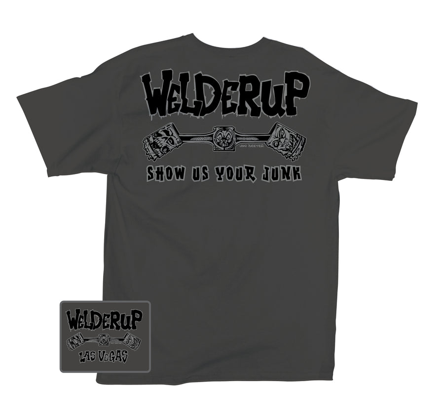Welder Up Classic Logo T-Shirt in Charcoal