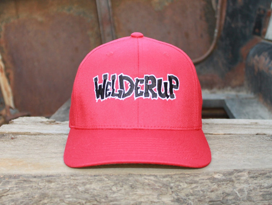 Welder Up Logo Flexfit Cap in Red