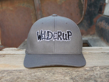 Welder Up Logo Flexfit Cap in Dark Grey