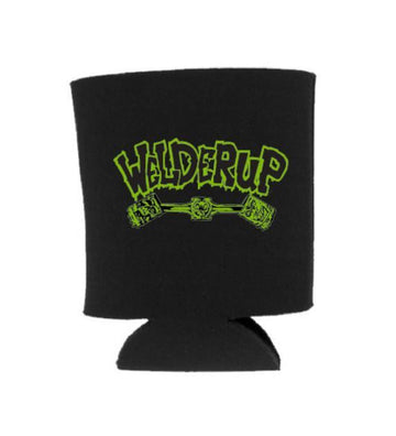 Welder Up Green Logo Black Koozie