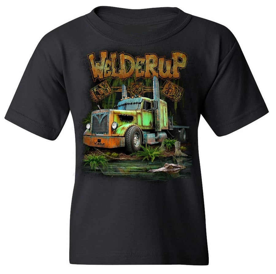 Kid's Swamp Truck Black T-Shirt