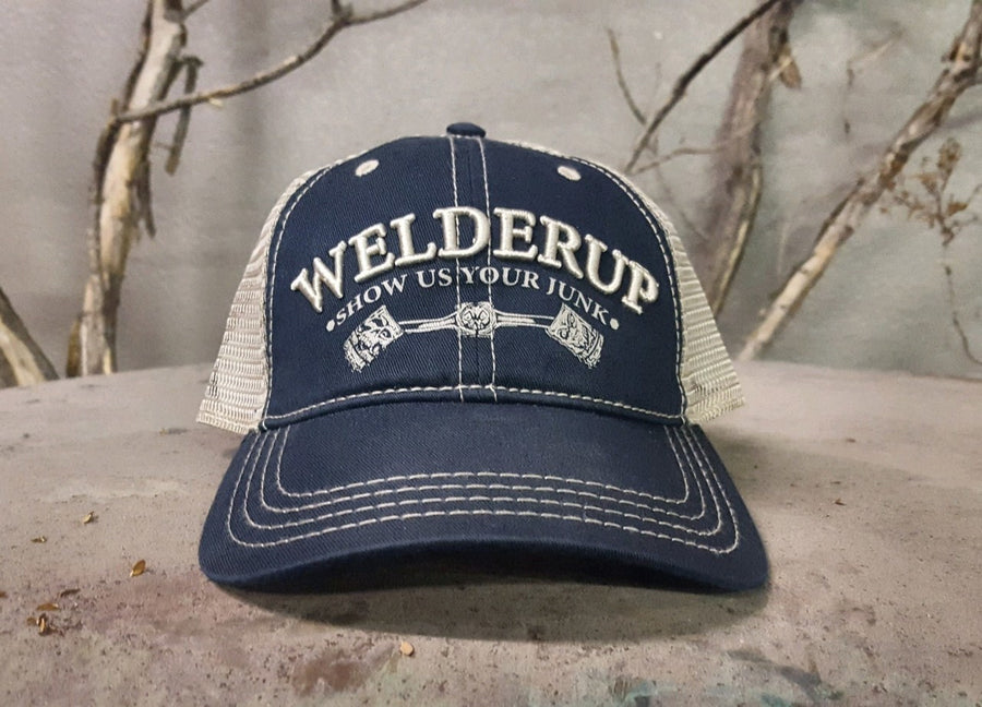 Welder Up Blue Front w/Tan Mesh Snap Back Hat