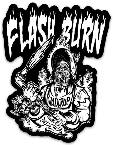 Flash Burn Black & White Sticker