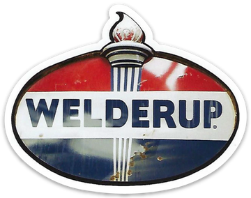 Welder Up Fuel Sign Logo Die Cut Sticker