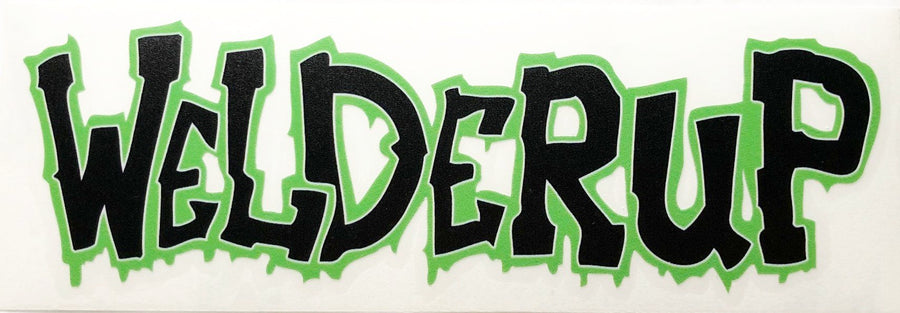 Welder Up Green Outline Decal 11