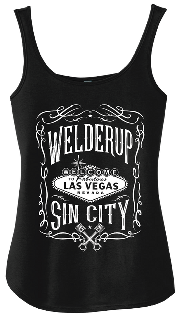 Ladies Whiskey Label Black Tank Top