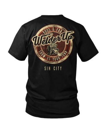 Welder Up Sin City Motor Black T-Shirt