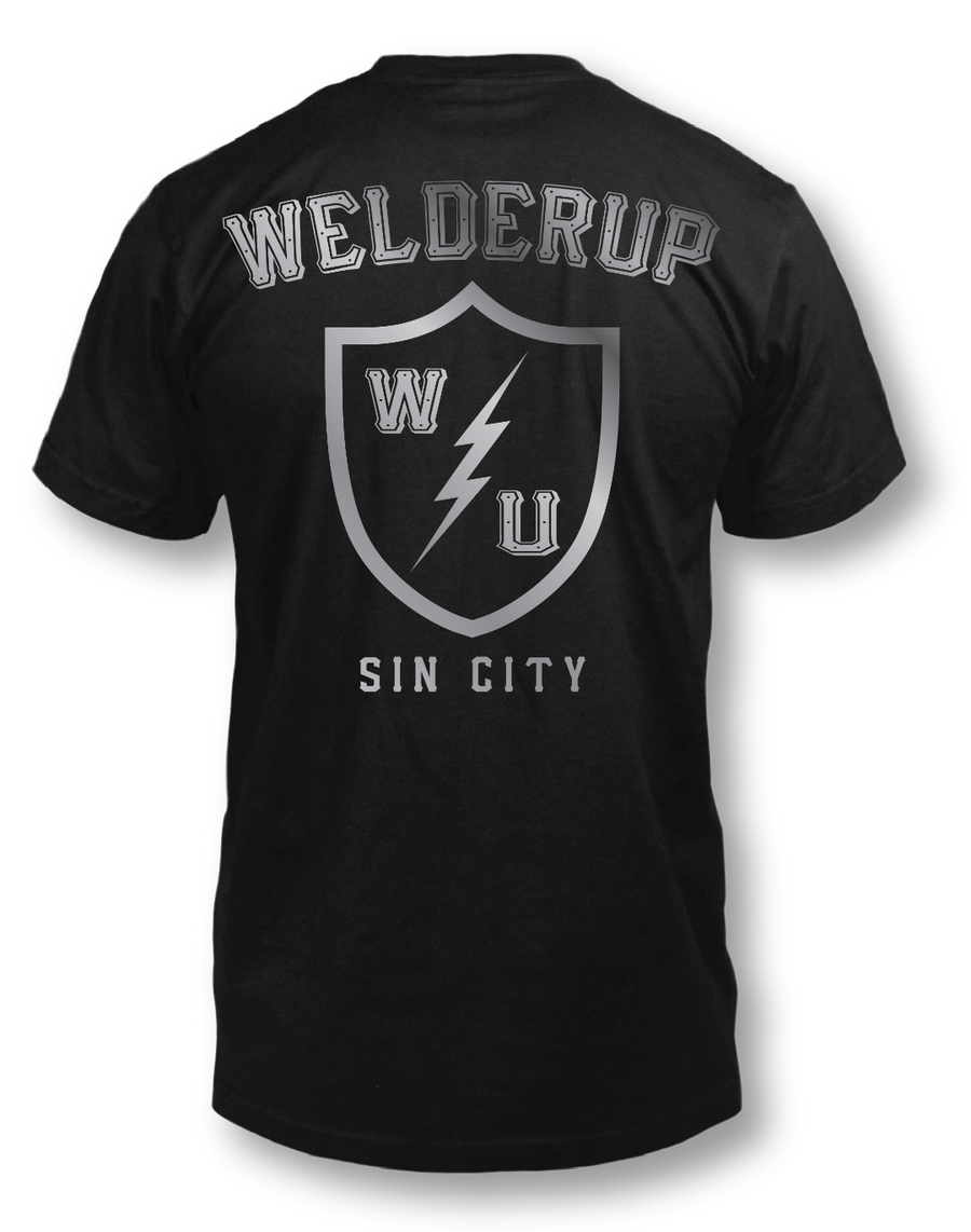 Welder Up Shield Black T-Shirt