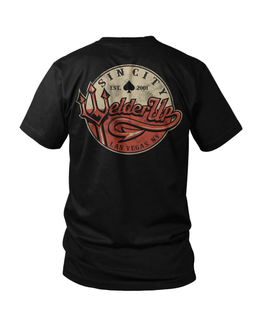 Welder Up Pitchfork Black T-Shirt