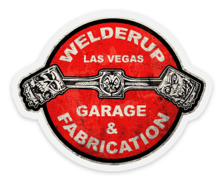 Welder Up Round Piston Logo Die Cut Sticker