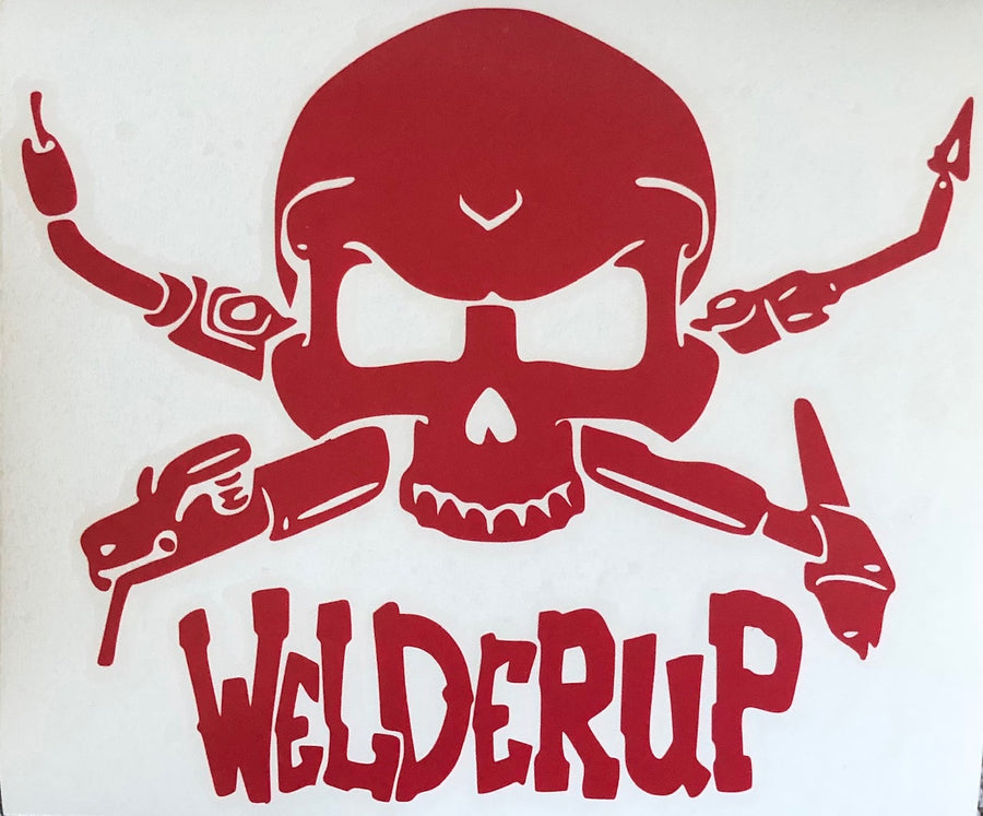 Welder Up Skull Decal