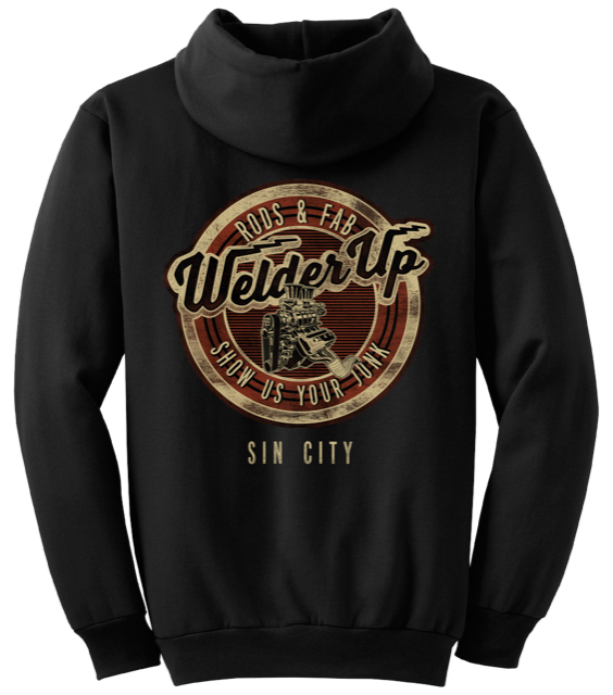 Welder Up Sin City Motor Black Hooded Sweatshirt