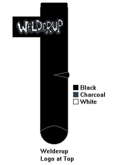 Welder Up - Black Crew Sock