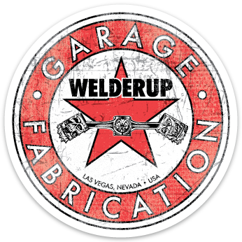 Welder Up Round Star Logo Sticker