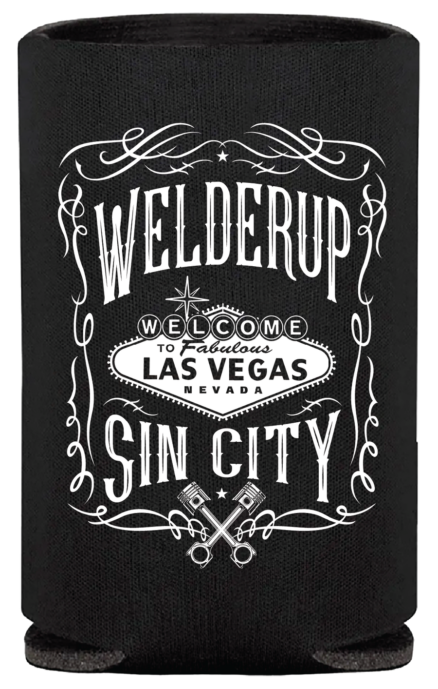 Welder Up Black Whiskey Label Koozie