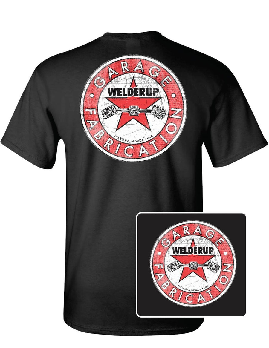 WelderUp Red Star Logo Black T-Shirt