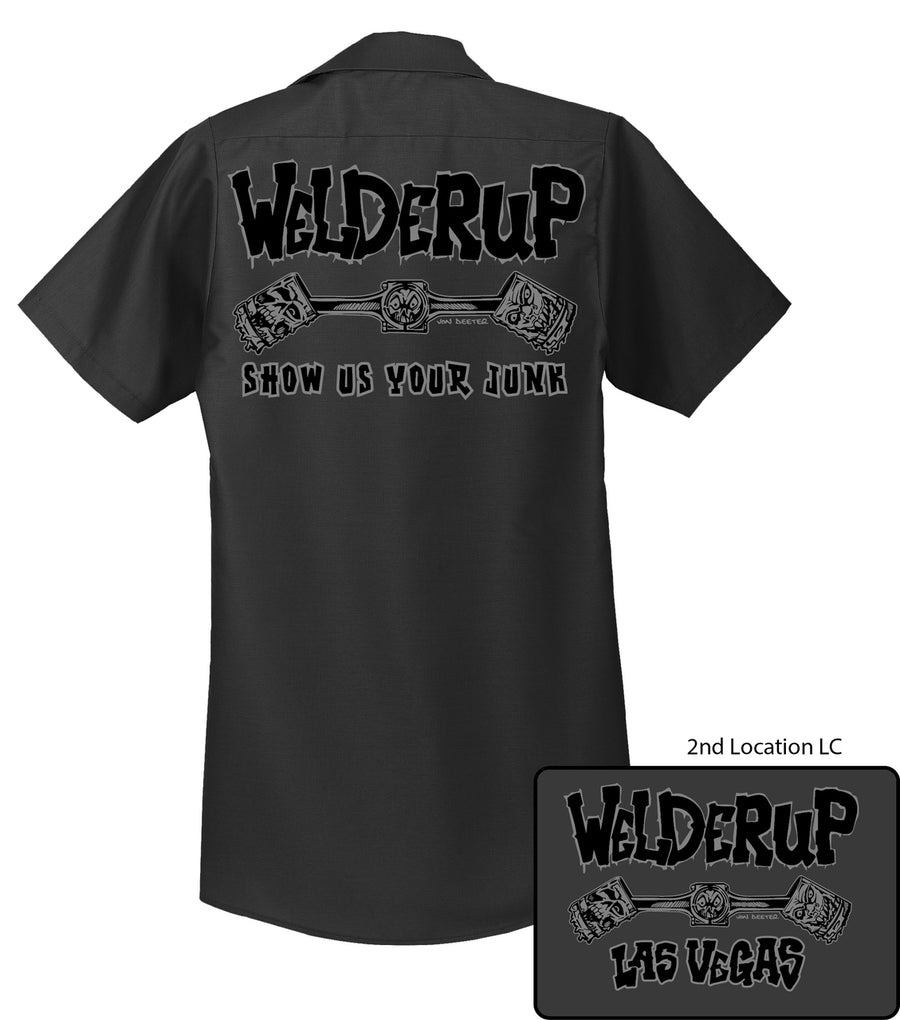 Welder Up Logo Work Shirt in Charcoal