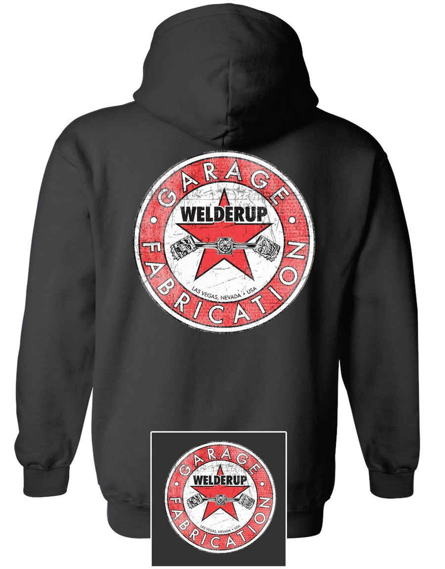 WelderUp Red Star Logo Black Sweatshirt