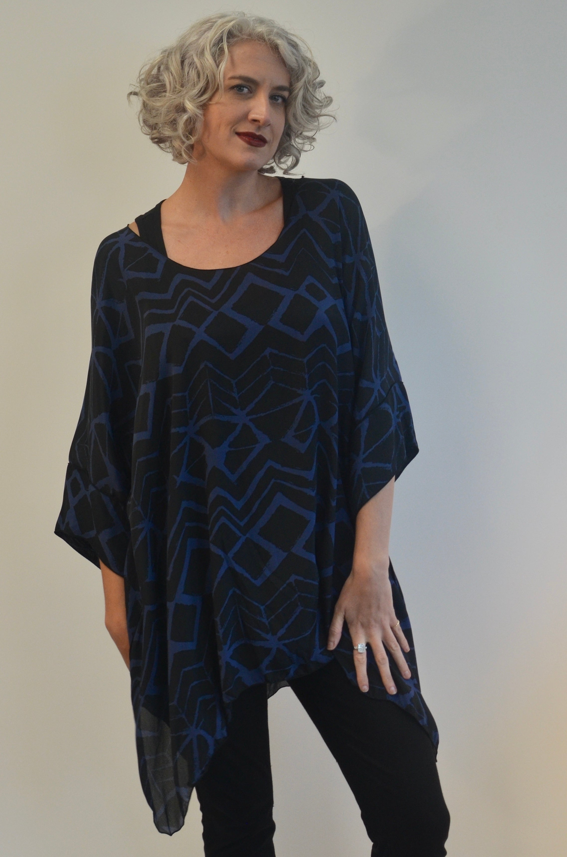 Silk Tunic with scarf/belt