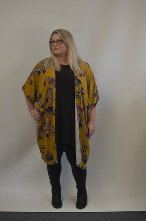 Mustard and Flowered Jacket