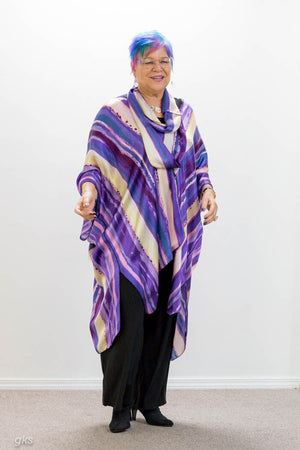 Purple Silk Tunic with matching scarf