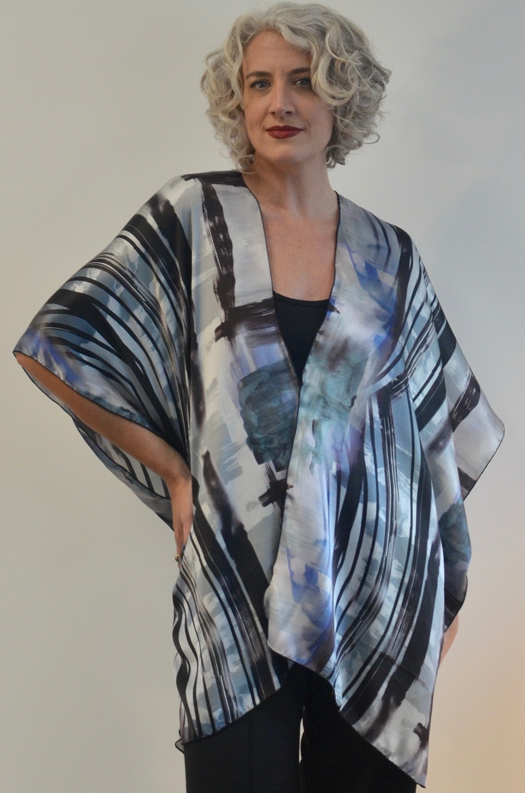 Silk Top and also wear as a poncho