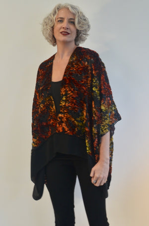 Silk Burnout Velvet Jacket