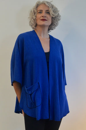 Linen Rayon Jacket with pocket
