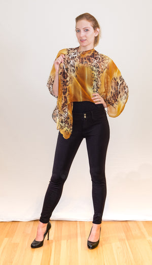 SALE Triangled Ruana in Silk