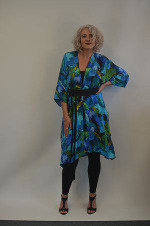 SALE Blue Jacket in Rayon