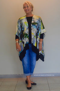 SALE Silk Jacket flowing with matching infinity scarf