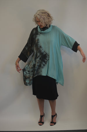 SALE Rayon Hand Dyed Top with matching scarf