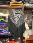 "Lovely grey black wrap (listed under ""Ruana"")"