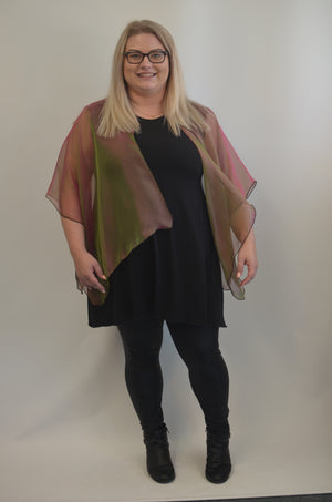 Iridescent Silk Jacket