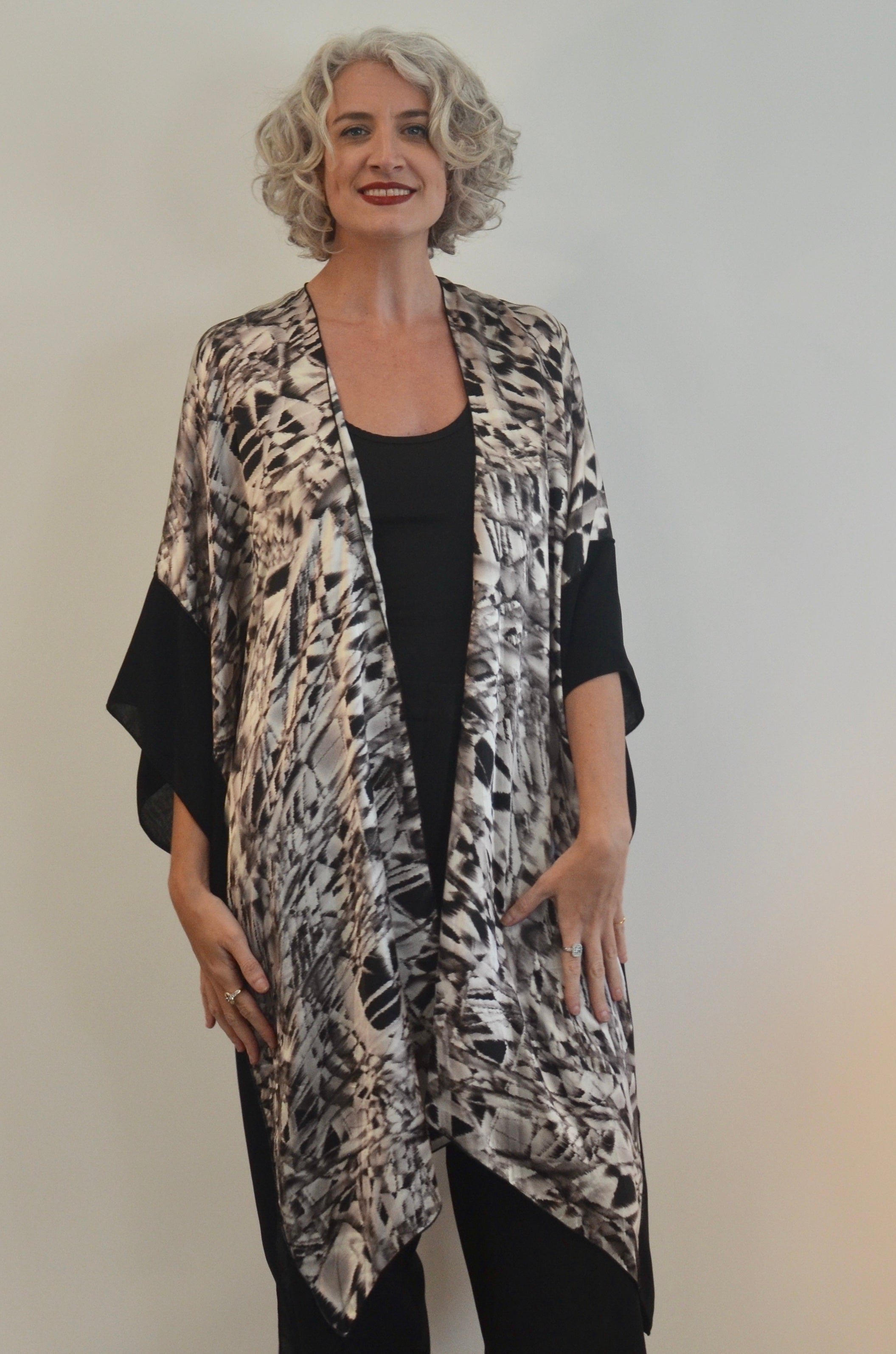 Silk Jacket and amazing poncho in one!