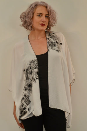 SALE Exclusive Line - One of a Kind... hand stamped painted... Jacket by Kjaer