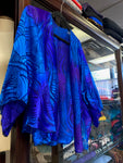 Blue Purple Silk Jacket