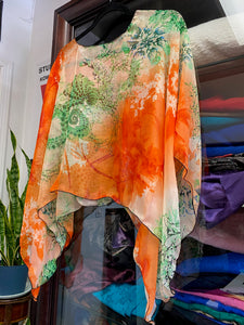 Silk One Of A Kind Poncho
