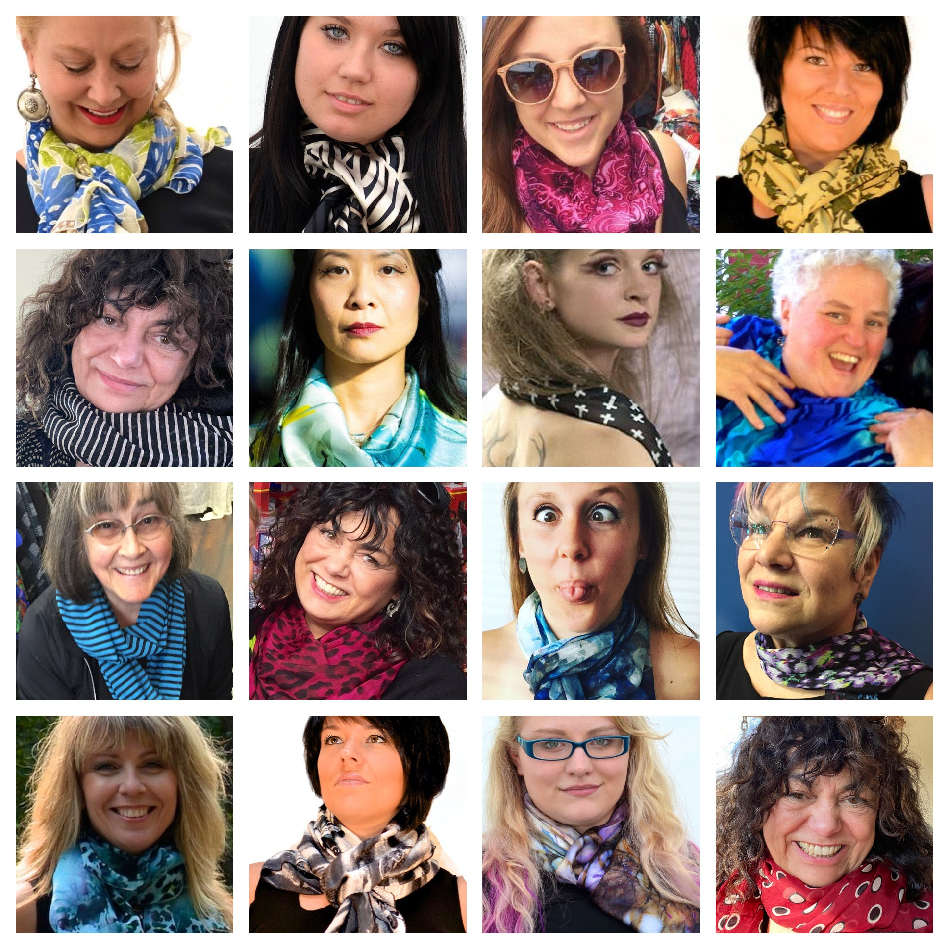 Exclusive order of Scarves mailed every month for 12 months! Best Seller