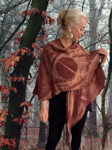 Triangled Ruana One Of A Kind in Browns