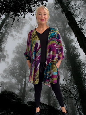 Rayon Jacket with Pockets