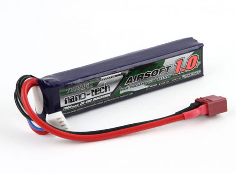 11.1V Turnigy Nano-Tech 1000mah 3S - Battery Upgrade for M4A1 V8/V9, M401, AK V2, AUG, M249, KUBLAI M4