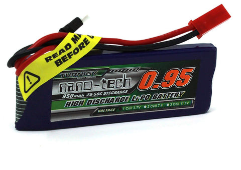 11.1V Turnigy Nano-Tech 950mah - Battery Upgrade