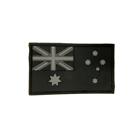 BLACK AND WHITE AUSTRALIAN PATCH - 3D Rubber Velcro Patch
