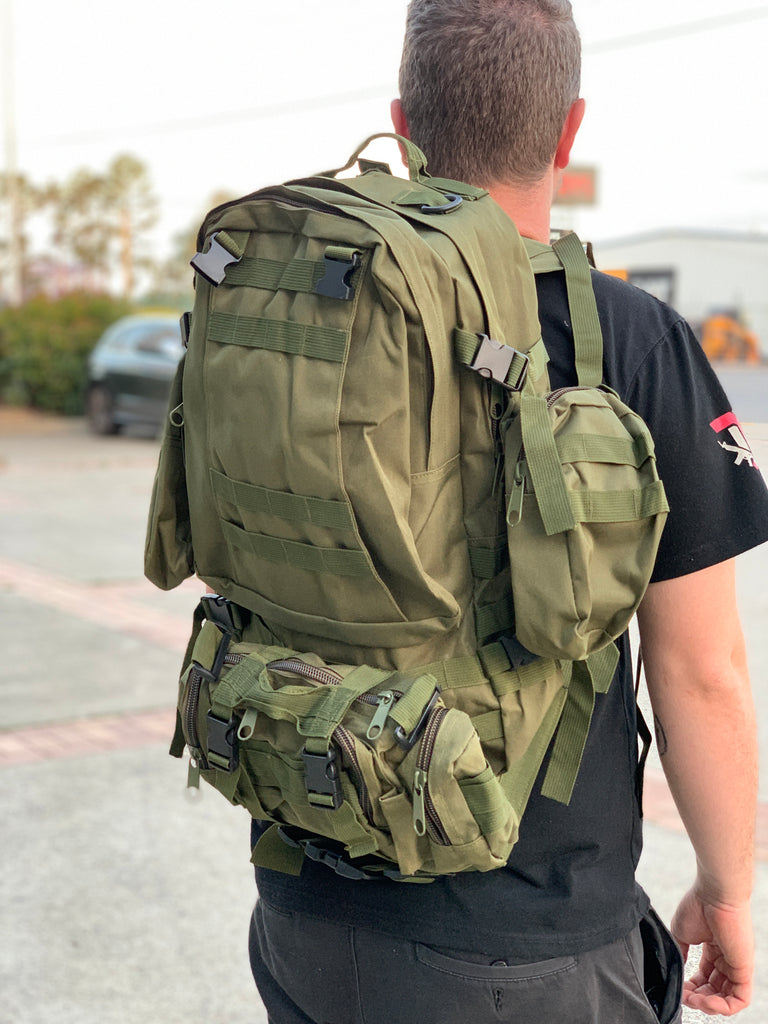 Large Military Style Backpack (Forest Green)