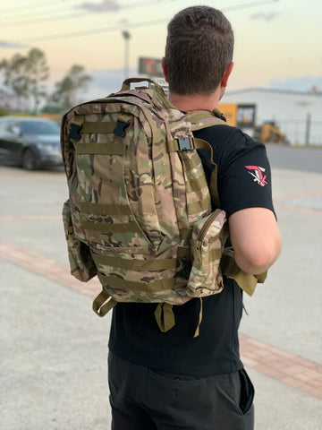 Large Military Style Backpack (Multicam)